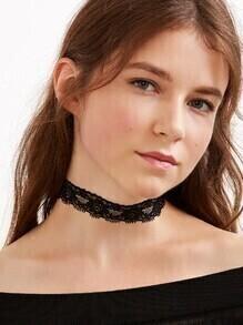 Black Flower Lace Choker Necklace