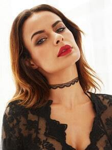 Black Simple Lace Choker Necklace
