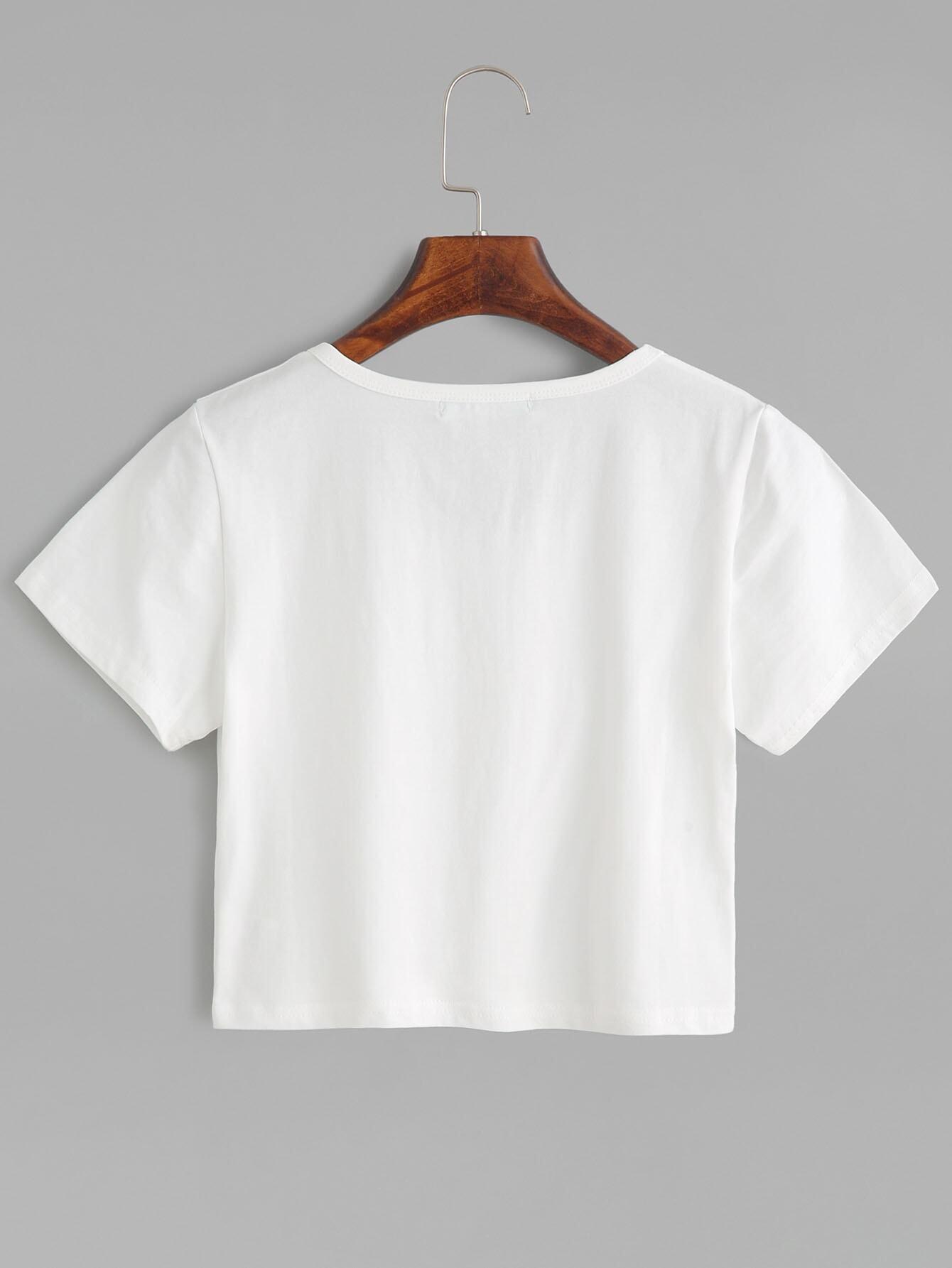 White Plain Crop T-shirt