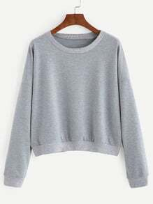 Heather Grey Dropped Shoulder Seam Sweatshirt