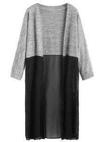 Contrast Long Sleeve Kimono