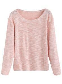 Pink Slub Long Sleeve T-shirt