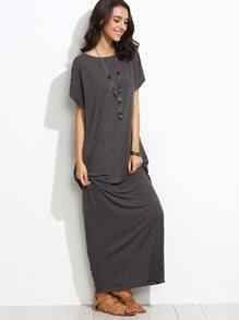 Heather Grey Batwing Cocoon Maxi Dress