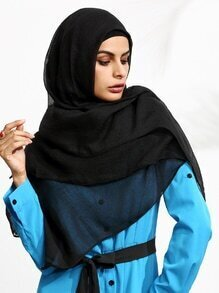Black Sheer Hijab Scarf