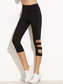 Black Cut Out Skinny Leggings
