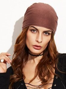 Coffee Underscarf Tie Back Hijab Cap
