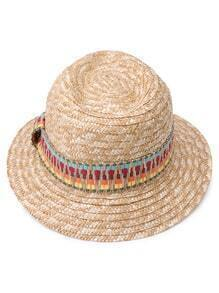 Tribal Plaited Beach Straw Hat