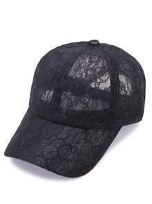 Black Sheer Lace Baseball Cap