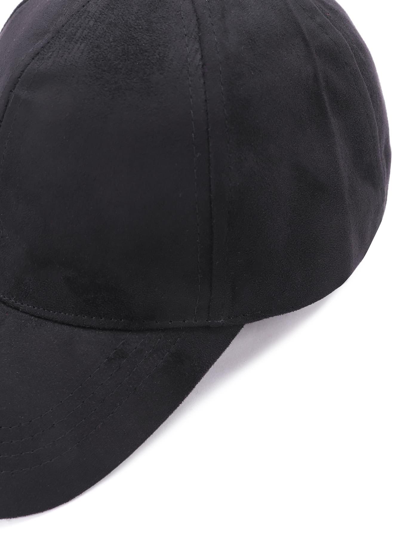 Casquette base ball en su d noir french romwe for Acheter maison suede