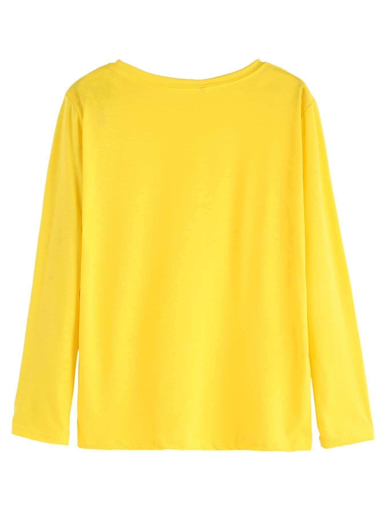 Yellow ripped long sleeve t shirt for Yellow long sleeved t shirt