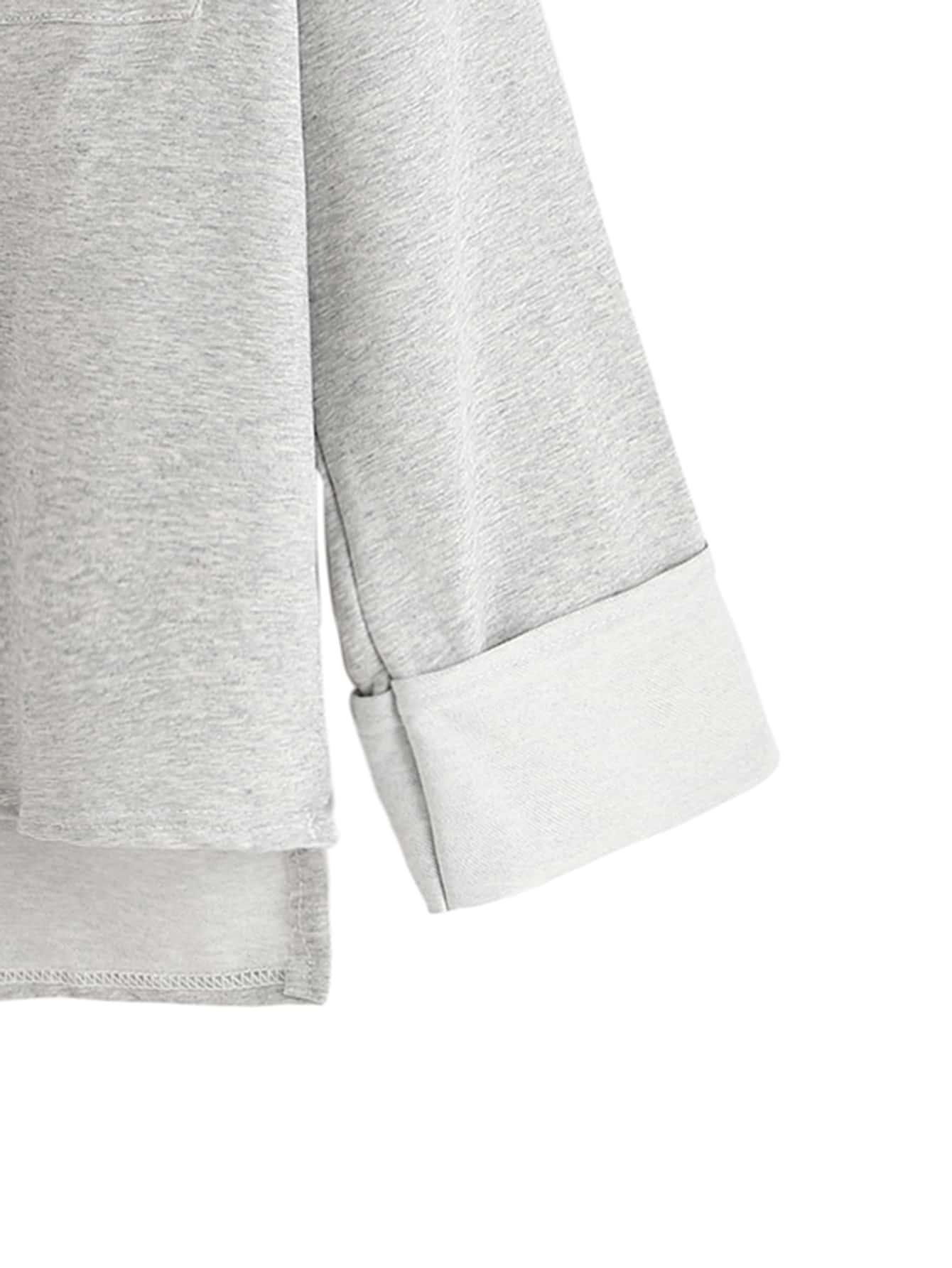 T shirt trap ze avec poches couleur unie gris p le for Couleur gris pale