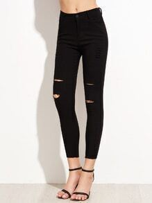 Black Ripped Skinny Pants