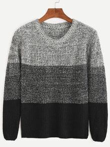 Color Block Fitted Sweater