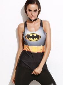Batman Print Tank Top