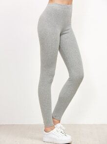 Light Grey Vertical Striped Leggings