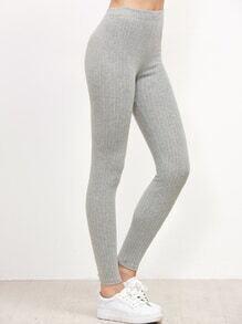 Light Grey Vertical Striped Leggings