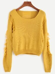 Ginger Ripped Crop Sweater