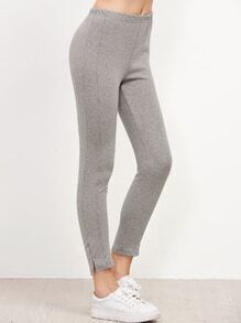 Grey Slit Side Leggings