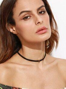 Black Geometric Metal Simple Choker Necklace