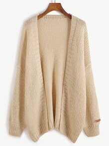 Apricot Drop Shoulder Cardigan