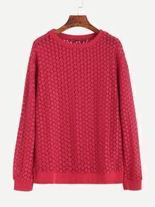 Burgundy Round Neck Sweatshirt