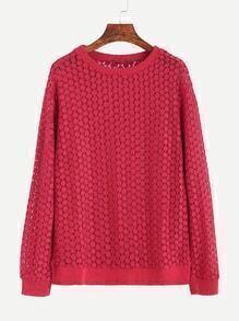 Burgundy Round Neck Sweatshirt