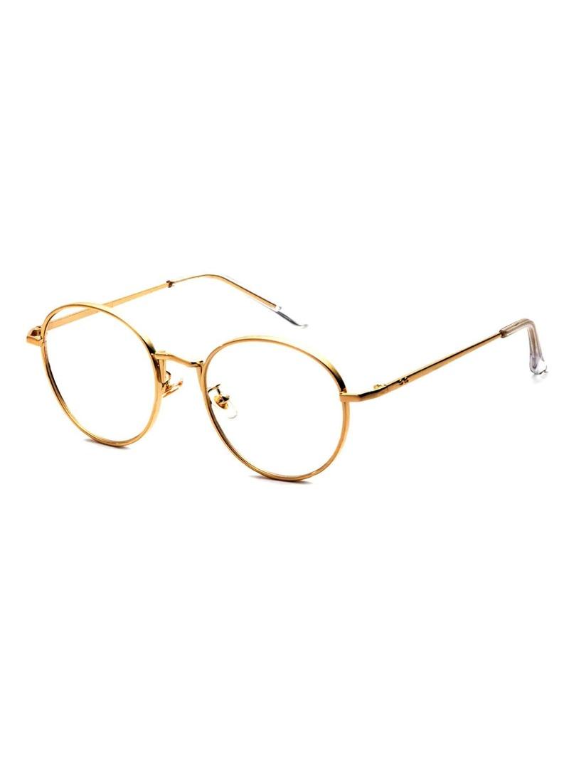 mejor amado c3b99 11dd4 Gafas de sol con marco dorado y lentes transparente
