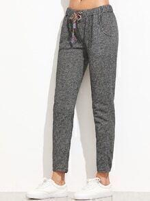 Heather Grey Drawstring Waist Pants