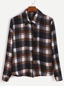 Multicolor Plaid Button Shirt