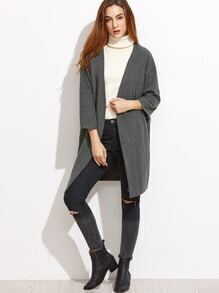 Dark Grey Raglan Sleeve Coat