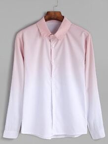 Pink Ombre Long Sleeve Shirt