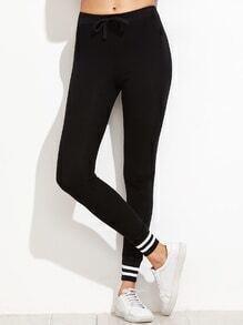 Black Striped Trim Sport Pants