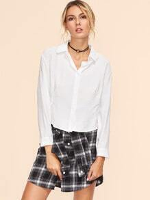 White High Low Shirt