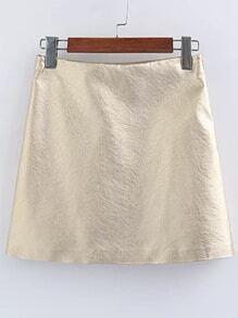 Gold PU Mini Skirt