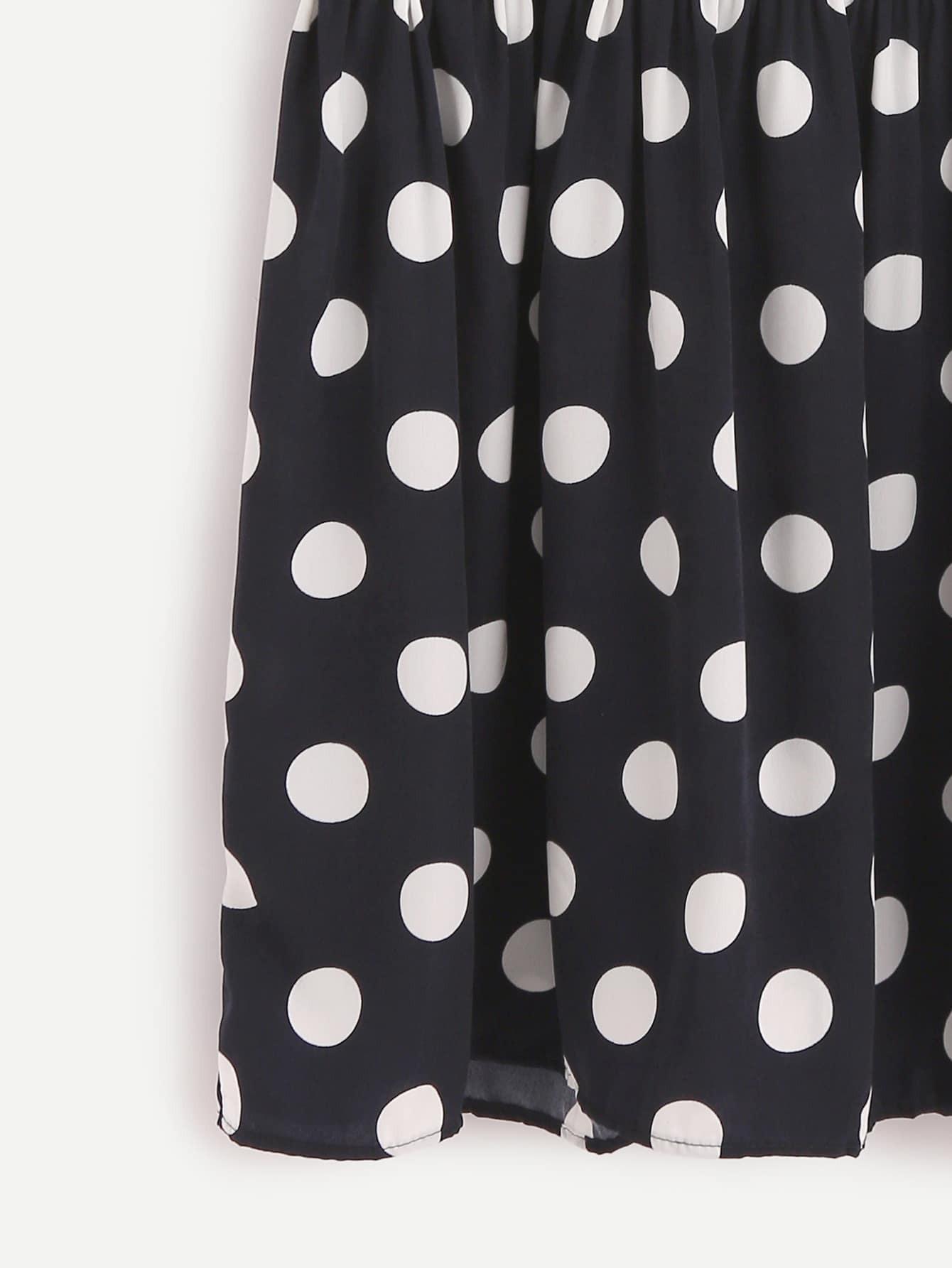 robe pois dos avec zip bleu fonc french romwe. Black Bedroom Furniture Sets. Home Design Ideas