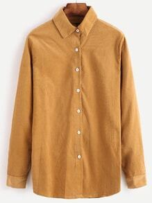 Khaki Corduroy Button Shirt