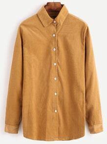Khaki Corduroy Button Shirt