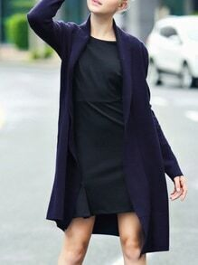 Navy Pockets Long Cardigan