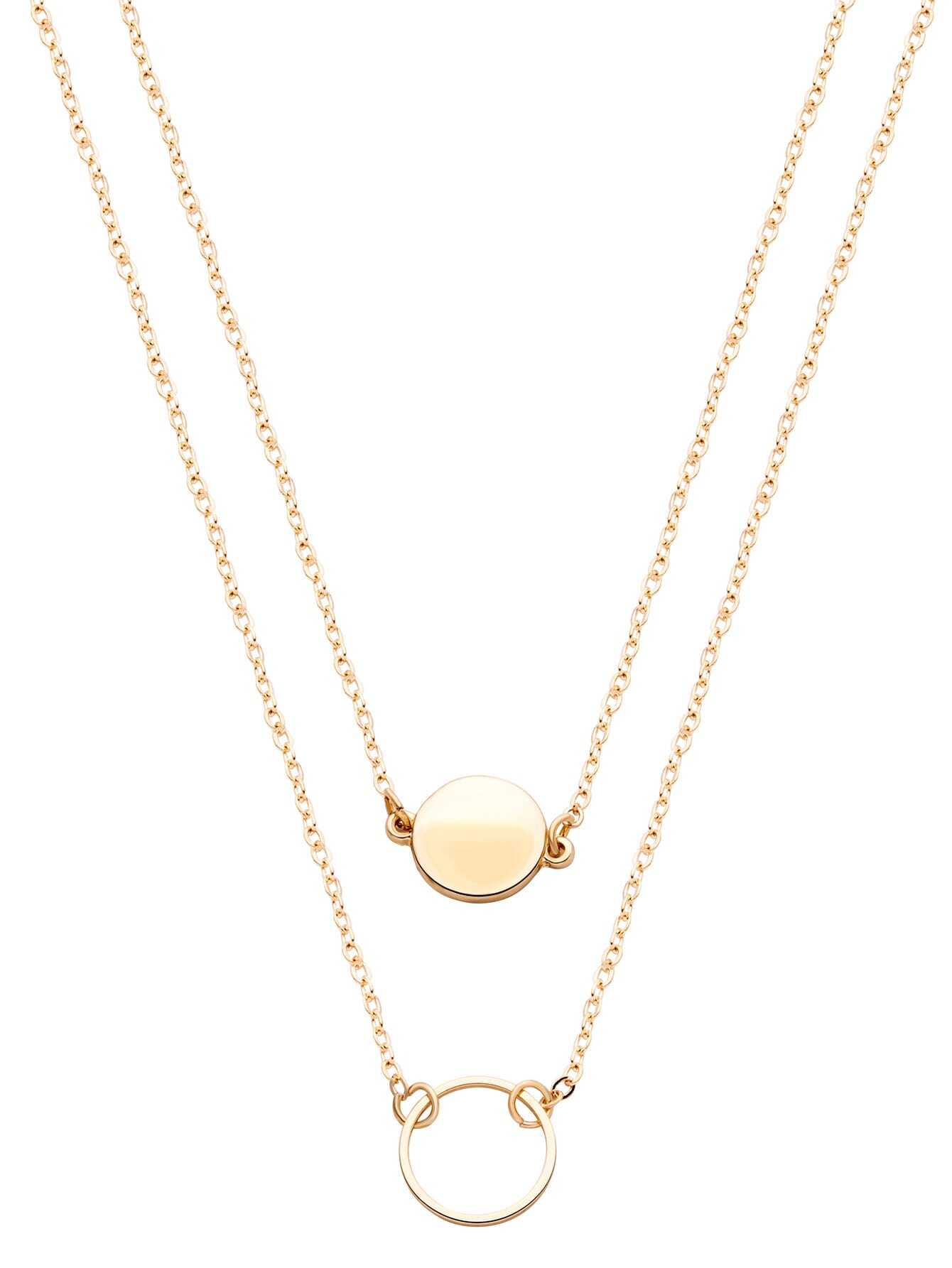 layered circles sweet eternity double necklaces necklace tiny layer simply shop studio