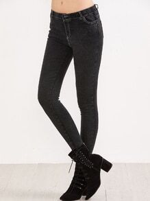 Black Stretch Pocket Skinny Jeans