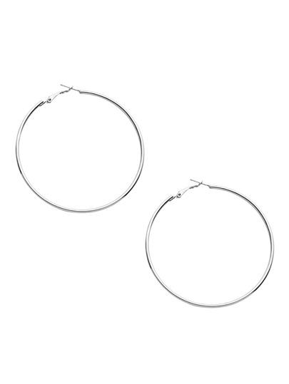 Pendientes simple - plateado