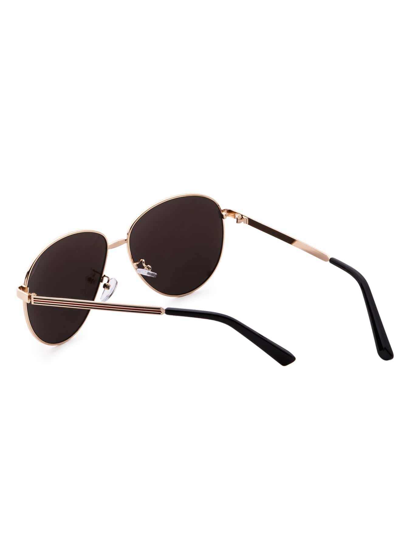 Lunettes de soleil d 39 aviateur avec verre de miroir et for Lunette de soleil avec verre miroir