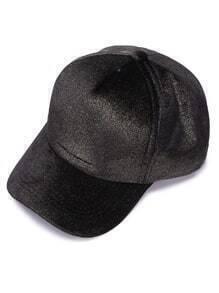 Shiny Black Stylish Casual Baseball Cap