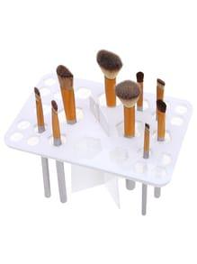 Bandeja de cepillos de maquillaje con 26 agujeros - blanco