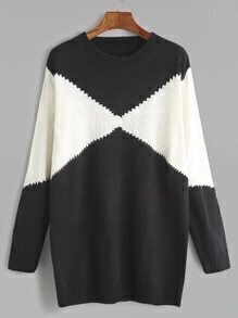 Black And White Contrast Knitwear