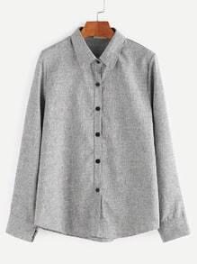 Light Grey Button Front Shirt