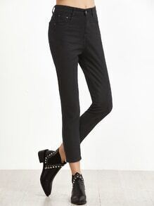 Black Pockets Skinny Jeans