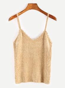 Light Khaki Tight Knit Cami Top