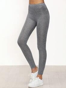 Grey Skinny Casual Leggings