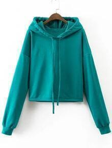 Blue Drop Shoulder Casual Sweatshirt